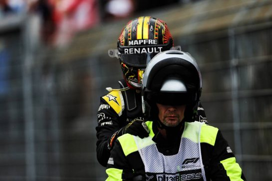Nico Hulkenberg (GER) Renault F1 Team retired from the race. 28.07.2019. Formula 1 World Championship, Rd 11, German Grand Prix, Hockenheim, Germany, Race Day. - www.xpbimages.com, EMail: requests@xpbimages.com - copy of publication required for printed pictures. Every used picture is fee-liable. © Copyright: Charniaux / XPB Images