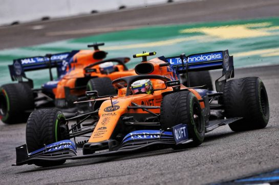 Lando Norris (GBR) McLaren MCL34. 28.07.2019. Formula 1 World Championship, Rd 11, German Grand Prix, Hockenheim, Germany, Race Day. - www.xpbimages.com, EMail: requests@xpbimages.com - copy of publication required for printed pictures. Every used picture is fee-liable. © Copyright: Moy / XPB Images
