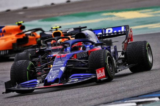 Daniil Kvyat (RUS) Scuderia Toro Rosso STR14. 28.07.2019. Formula 1 World Championship, Rd 11, German Grand Prix, Hockenheim, Germany, Race Day. - www.xpbimages.com, EMail: requests@xpbimages.com - copy of publication required for printed pictures. Every used picture is fee-liable. © Copyright: Moy / XPB Images
