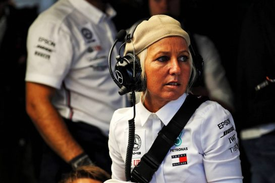 Angela Cullen (NZL) Mercedes AMG F1 Physiotherapist. 28.07.2019. Formula 1 World Championship, Rd 11, German Grand Prix, Hockenheim, Germany, Race Day. - www.xpbimages.com, EMail: requests@xpbimages.com - copy of publication required for printed pictures. Every used picture is fee-liable. © Copyright: Photo4 / XPB Images