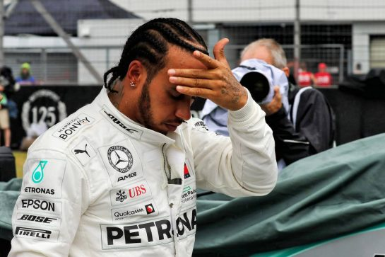 Lewis Hamilton (GBR) Mercedes AMG F1 on the grid. 28.07.2019. Formula 1 World Championship, Rd 11, German Grand Prix, Hockenheim, Germany, Race Day. - www.xpbimages.com, EMail: requests@xpbimages.com - copy of publication required for printed pictures. Every used picture is fee-liable. © Copyright: Photo4 / XPB Images