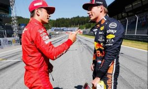 Leclerc 'can't wait' to have more battles with Verstappen