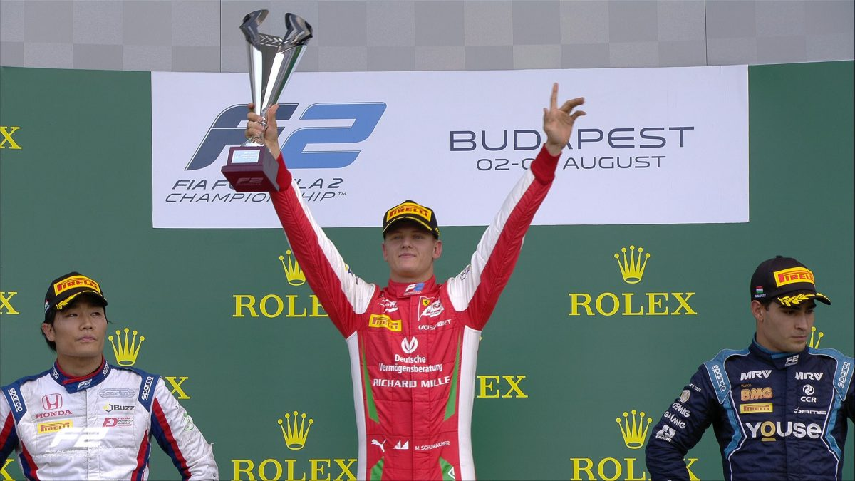 Mick Schumacher, son of Michael, takes maiden F2 win in Hungary