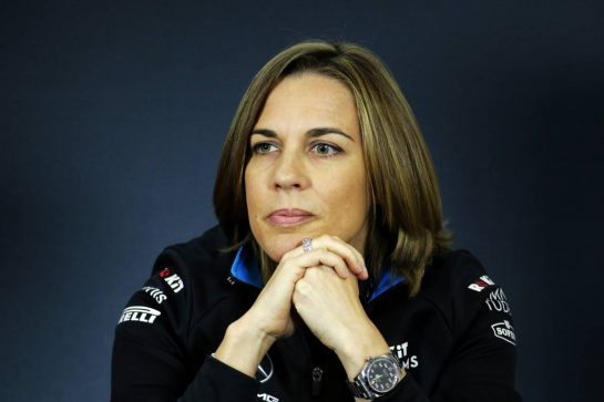 Claire Williams (GBR) Williams Racing Deputy Team Principal in the FIA Press Conference. 02.08.2019. Formula 1 World Championship, Rd 12, Hungarian Grand Prix, Budapest, Hungary, Practice Day.  - www.xpbimages.com, EMail: requests@xpbimages.com - copy of publication required for printed pictures. Every used picture is fee-liable. © Copyright: Bearne / XPB Images