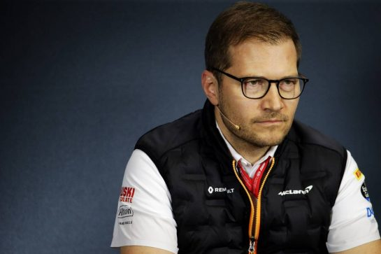 Andreas Seidl, McLaren Managing Director in the FIA Press Conference. 02.08.2019. Formula 1 World Championship, Rd 12, Hungarian Grand Prix, Budapest, Hungary, Practice Day.  - www.xpbimages.com, EMail: requests@xpbimages.com - copy of publication required for printed pictures. Every used picture is fee-liable. © Copyright: Bearne / XPB Images