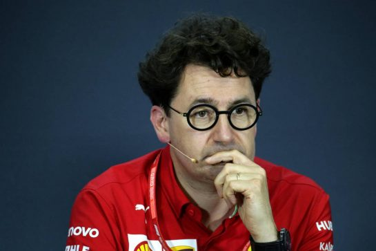 Mattia Binotto (ITA) Ferrari Team Principal in the FIA Press Conference. 02.08.2019. Formula 1 World Championship, Rd 12, Hungarian Grand Prix, Budapest, Hungary, Practice Day.  - www.xpbimages.com, EMail: requests@xpbimages.com - copy of publication required for printed pictures. Every used picture is fee-liable. © Copyright: Bearne / XPB Images