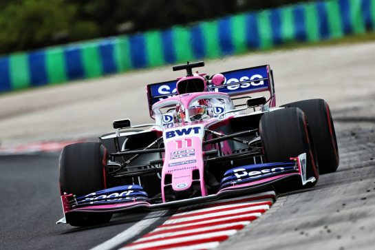 Sergio Perez (MEX) Racing Point F1 Team RP19. 02.08.2019. Formula 1 World Championship, Rd 12, Hungarian Grand Prix, Budapest, Hungary, Practice Day. - www.xpbimages.com, EMail: requests@xpbimages.com - copy of publication required for printed pictures. Every used picture is fee-liable. © Copyright: Moy / XPB Images