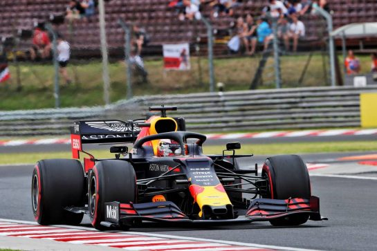 Max Verstappen (NLD) Red Bull Racing RB15. 02.08.2019. Formula 1 World Championship, Rd 12, Hungarian Grand Prix, Budapest, Hungary, Practice Day. - www.xpbimages.com, EMail: requests@xpbimages.com - copy of publication required for printed pictures. Every used picture is fee-liable. © Copyright: Photo4 / XPB Images