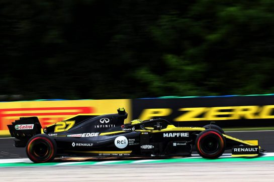 Nico Hulkenberg (GER) Renault F1 Team RS19. 02.08.2019. Formula 1 World Championship, Rd 12, Hungarian Grand Prix, Budapest, Hungary, Practice Day. - www.xpbimages.com, EMail: requests@xpbimages.com - copy of publication required for printed pictures. Every used picture is fee-liable. © Copyright: Photo4 / XPB Images