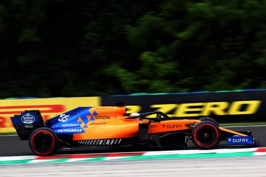 Carlos Sainz Jr (ESP) McLaren MCL34. 02.08.2019. Formula 1 World Championship, Rd 12, Hungarian Grand Prix, Budapest, Hungary, Practice Day. - www.xpbimages.com, EMail: requests@xpbimages.com - copy of publication required for printed pictures. Every used picture is fee-liable. © Copyright: Photo4 / XPB Images