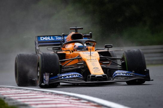 Carlos Sainz Jr (ESP) McLaren MCL34. 02.08.2019. Formula 1 World Championship, Rd 12, Hungarian Grand Prix, Budapest, Hungary, Practice Day.  - www.xpbimages.com, EMail: requests@xpbimages.com - copy of publication required for printed pictures. Every used picture is fee-liable. © Copyright: Bearne / XPB Images