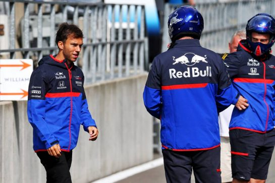 Pierre Gasly (FRA) Scuderia Toro Rosso. 29.08.2019. Formula 1 World Championship, Rd 13, Belgian Grand Prix, Spa Francorchamps, Belgium, Preparation Day. - www.xpbimages.com, EMail: requests@xpbimages.com - copy of publication required for printed pictures. Every used picture is fee-liable. © Copyright: Batchelor / XPB Images