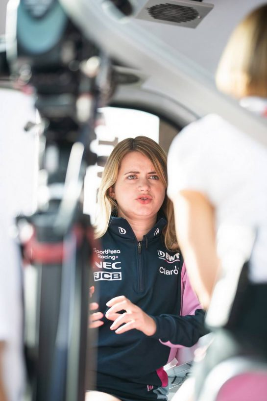 Bernadette Collins (GBR) Racing Point F1 Team Performance and Strategy Engineer.