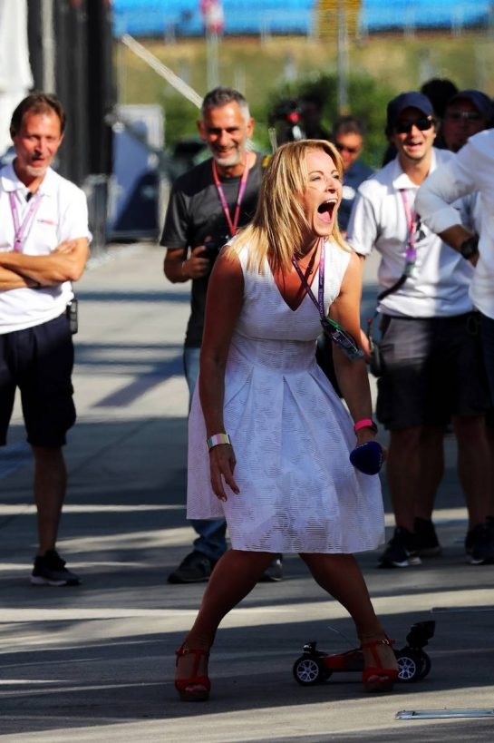 Rachel Brookes (GBR) Sky Sports F1 Reporter.