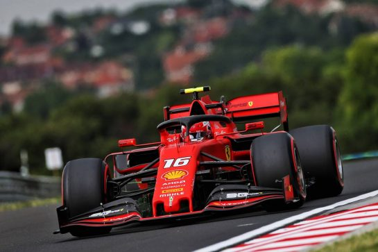Charles Leclerc (MON) Ferrari SF90. 02.08.2019. Formula 1 World Championship, Rd 12, Hungarian Grand Prix, Budapest, Hungary, Practice Day. - www.xpbimages.com, EMail: requests@xpbimages.com - copy of publication required for printed pictures. Every used picture is fee-liable. © Copyright: Moy / XPB Images