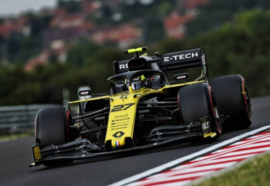 Nico Hulkenberg (GER) Renault F1 Team RS19. 02.08.2019. Formula 1 World Championship, Rd 12, Hungarian Grand Prix, Budapest, Hungary, Practice Day. - www.xpbimages.com, EMail: requests@xpbimages.com - copy of publication required for printed pictures. Every used picture is fee-liable. © Copyright: Moy / XPB Images