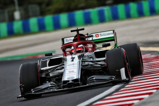 Kimi Raikkonen (FIN) Alfa Romeo Racing C38. 02.08.2019. Formula 1 World Championship, Rd 12, Hungarian Grand Prix, Budapest, Hungary, Practice Day. - www.xpbimages.com, EMail: requests@xpbimages.com - copy of publication required for printed pictures. Every used picture is fee-liable. © Copyright: Moy / XPB Images