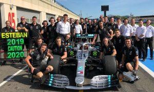 Mercedes urges caution, but Ocon won't listen
