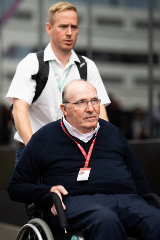 Frank Williams (GBR) Williams Team Owner.