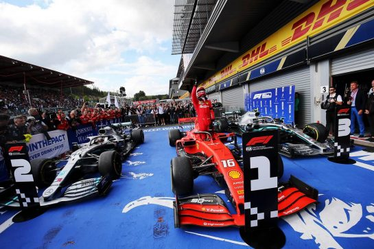 Race winner Charles Leclerc (MON) Ferrari SF90 celebrates in parc ferme.