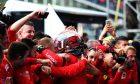 Race winner Charles Leclerc (MON) Ferrari celebrates in parc ferme.