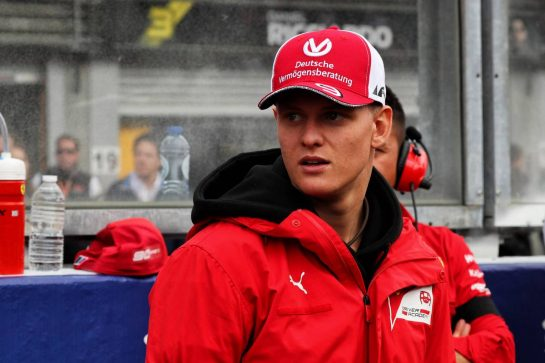 Mick Schumacher (GER) Prema Racing Formula 2 Driver on the grid.