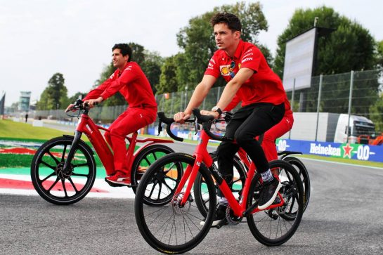 Charles Leclerc (MON) Ferrari rides the circuit with the team. 05.09.2019. Formula 1 World Championship, Rd 14, Italian Grand Prix, Monza, Italy, Preparation Day. - www.xpbimages.com, EMail: requests@xpbimages.com - copy of publication required for printed pictures. Every used picture is fee-liable. © Copyright: Batchelor / XPB Images