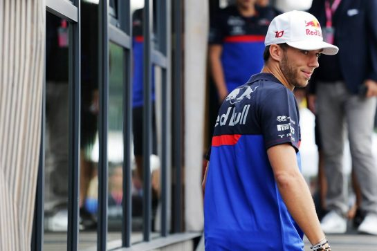 Pierre Gasly (FRA) Scuderia Toro Rosso. 05.09.2019. Formula 1 World Championship, Rd 14, Italian Grand Prix, Monza, Italy, Preparation Day.  - www.xpbimages.com, EMail: requests@xpbimages.com - copy of publication required for printed pictures. Every used picture is fee-liable. © Copyright: Bearne / XPB Images