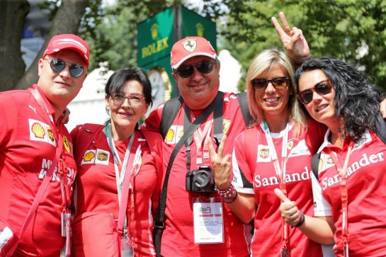 Circuit atmosphere - Ferrari fans. 05.09.2019. Formula 1 World Championship, Rd 14, Italian Grand Prix, Monza, Italy, Preparation Day.  - www.xpbimages.com, EMail: requests@xpbimages.com - copy of publication required for printed pictures. Every used picture is fee-liable. © Copyright: Bearne / XPB Images