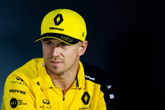 Nico Hulkenberg (GER) Renault F1 Team in the FIA Press Conference. 05.09.2019. Formula 1 World Championship, Rd 14, Italian Grand Prix, Monza, Italy, Preparation Day.  - www.xpbimages.com, EMail: requests@xpbimages.com - copy of publication required for printed pictures. Every used picture is fee-liable. © Copyright: Filipe / XPB Images