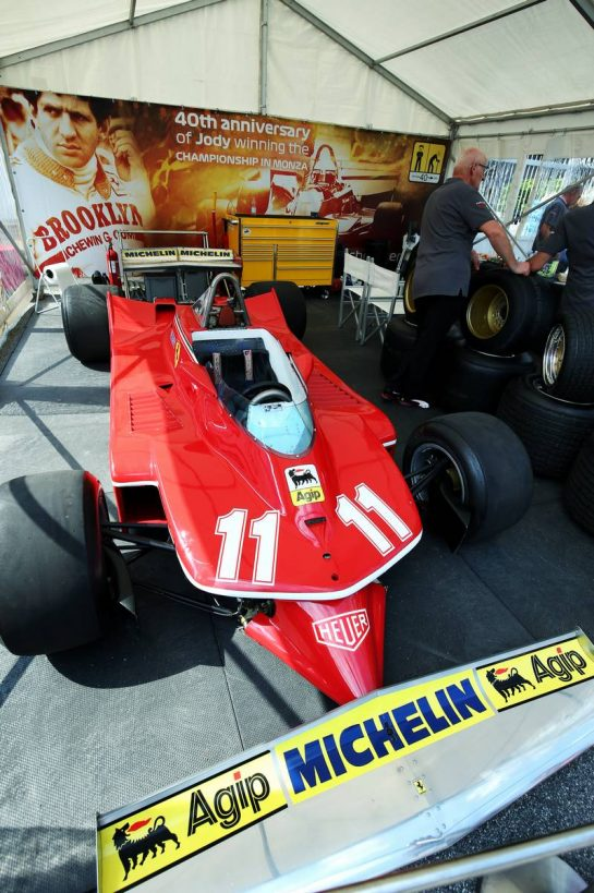 1979 Ferrari 312T4 of Jody Scheckter (RSA) at a stand celebrating 40 years since he won the F1 World Championship. 05.09.2019. Formula 1 World Championship, Rd 14, Italian Grand Prix, Monza, Italy, Preparation Day. - www.xpbimages.com, EMail: requests@xpbimages.com - copy of publication required for printed pictures. Every used picture is fee-liable. © Copyright: Moy / XPB Images