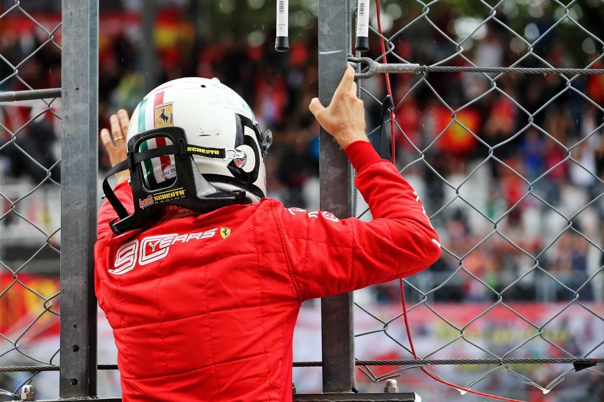 Sebastian Vettel (GER) Ferrari. 06.09.2019. Formula 1 World Championship, Rd 14, Italian Grand Prix
