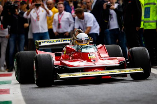 Jody Scheckter (RSA) in the 1979 Ferrari 312T4. 06.09.2019. Formula 1 World Championship, Rd 14, Italian Grand Prix, Monza, Italy, Practice Day.  - www.xpbimages.com, EMail: requests@xpbimages.com - copy of publication required for printed pictures. Every used picture is fee-liable. © Copyright: Filipe / XPB Images