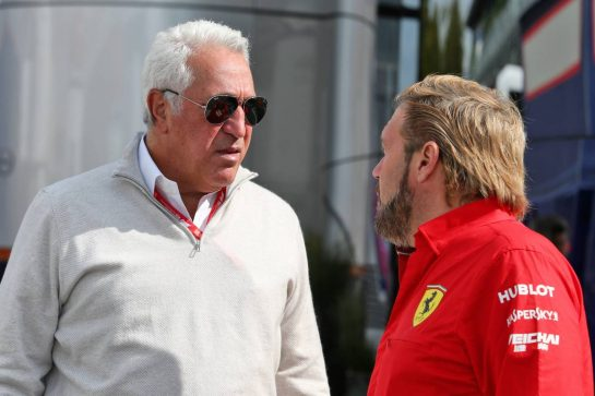 (L to R): Lawrence Stroll (CDN) Racing Point F1 Team Investor with Gino Rosato (CDN) Ferrari.