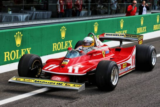 Jody Scheckter (RSA) in the 1979 Ferrari 312T4. 07.09.2019. Formula 1 World Championship, Rd 14, Italian Grand Prix, Monza, Italy, Qualifying Day. - www.xpbimages.com, EMail: requests@xpbimages.com - copy of publication required for printed pictures. Every used picture is fee-liable. © Copyright: Batchelor / XPB Images