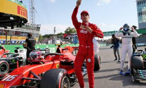 Leclerc takes pole after 'messy' end to Monza qualifying