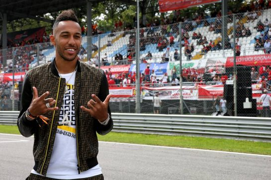 Pierre-Emerick Aubameyang (GAB) Arsenal Football Player - Pirelli Hot Laps.