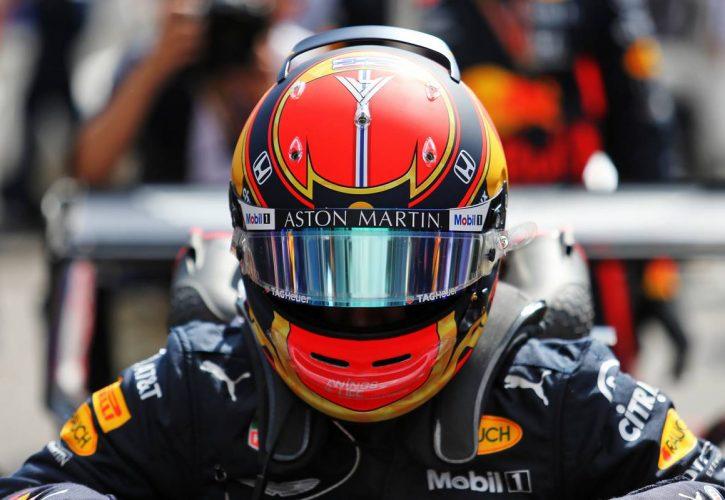 Alexander Albon (THA) Red Bull Racing RB15 on the grid.