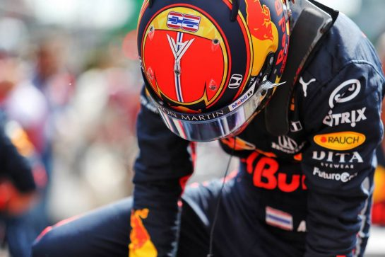 Alexander Albon (THA) Red Bull Racing RB15 on the grid.