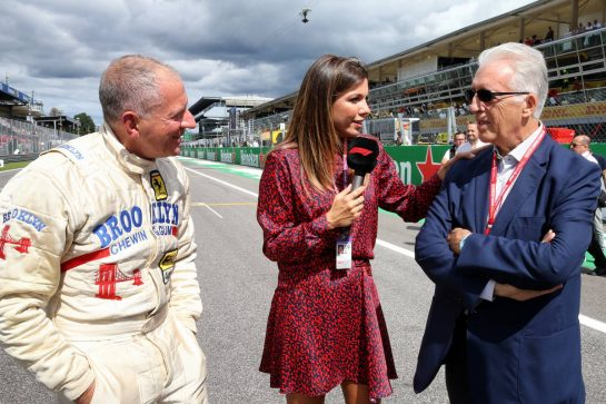 (L to R): Jody Scheckter (RSA) with Federica Masolin (ITA) Sky F1 Italia Presenter and Piero Ferrari (ITA) Ferrari Vice-President.