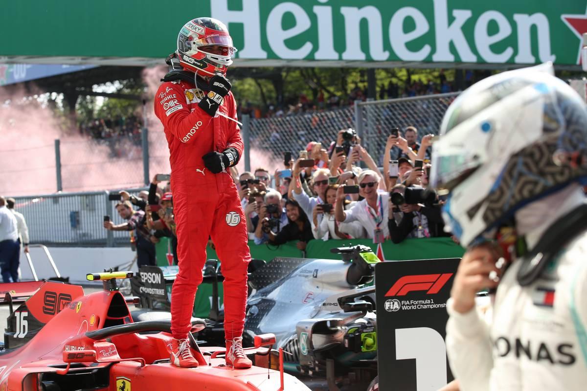 Charles Leclerc (MON) Ferrari SF90 wins the Italian Grand Prix 1st place. 08.09.2019.