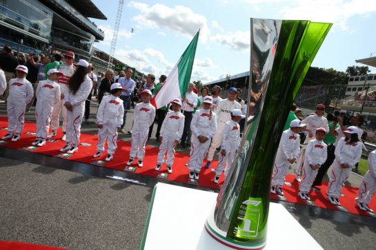1st place trophy on display.