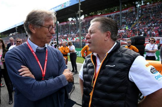 Mario Illien (SUI) and Zak Brown (USA) McLaren Executive Director