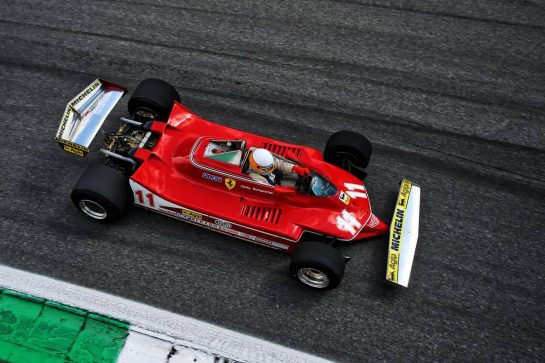 Jody Scheckter (RSA) in the Ferrari 312T4. 08.09.2019. Formula 1 World Championship, Rd 14, Italian Grand Prix, Monza, Italy, Race Day.  - www.xpbimages.com, EMail: requests@xpbimages.com - copy of publication required for printed pictures. Every used picture is fee-liable. © Copyright: Filipe / XPB Images
