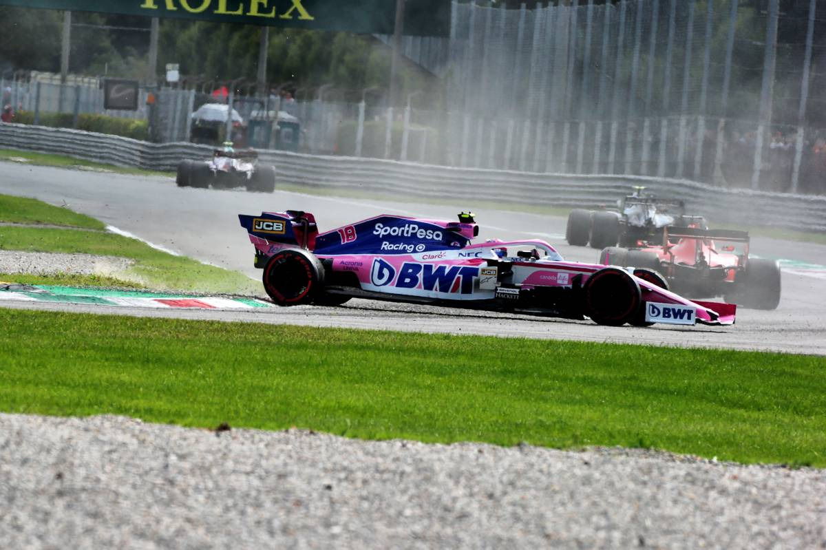 Lance Stroll (CDN) Racing Point F1 Team RP19 spins in the race. 08.09.2019.