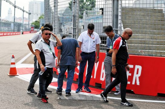 Michael Masi (AUS) FIA Race Director walks the circuit.