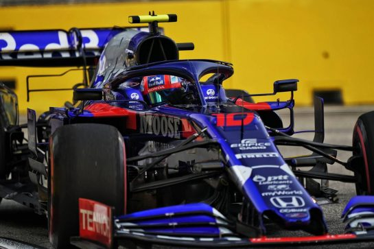 Pierre Gasly (FRA) Scuderia Toro Rosso STR14. 20.09.2019. Formula 1 World Championship, Rd 15, Singapore Grand Prix, Marina Bay Street Circuit, Singapore, Practice Day.  - www.xpbimages.com, EMail: requests@xpbimages.com - copy of publication required for printed pictures. Every used picture is fee-liable. © Copyright: Dungan / XPB Images