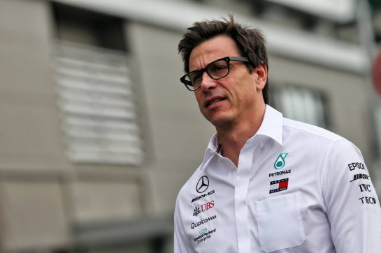 Toto Wolff (GER) Mercedes AMG F1 Shareholder and Executive Director. 21.09.2019. Formula 1 World Championship, Rd 15, Singapore Grand Prix, Marina Bay Street Circuit, Singapore, Qualifying Day. - www.xpbimages.com, EMail: requests@xpbimages.com - copy of publication required for printed pictures. Every used picture is fee-liable. © Copyright: Moy / XPB Images