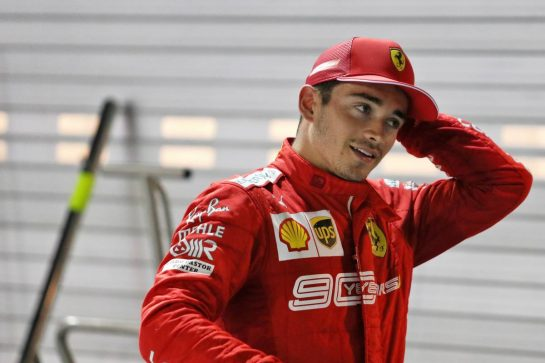 Charles Leclerc (MON) Ferrari in qualifying parc ferme. 21.09.2019. Formula 1 World Championship, Rd 15, Singapore Grand Prix, Marina Bay Street Circuit, Singapore, Qualifying Day. - www.xpbimages.com, EMail: requests@xpbimages.com - copy of publication required for printed pictures. Every used picture is fee-liable. © Copyright: Moy / XPB Images