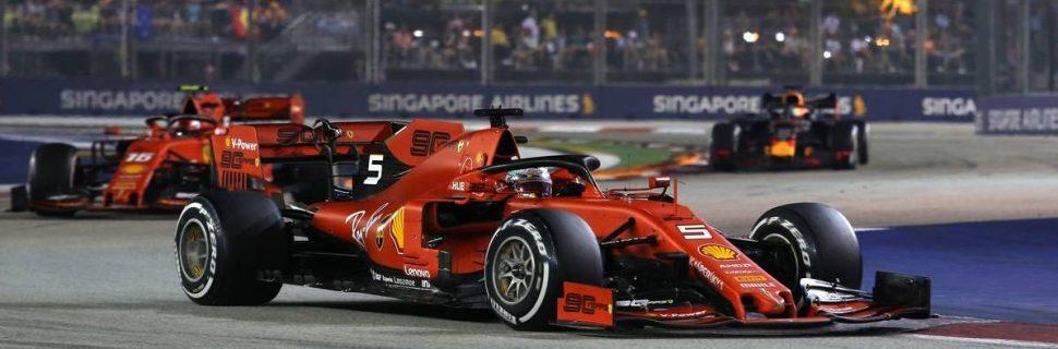 Vettel beats Leclerc as Mercedes slumps in Singapore
